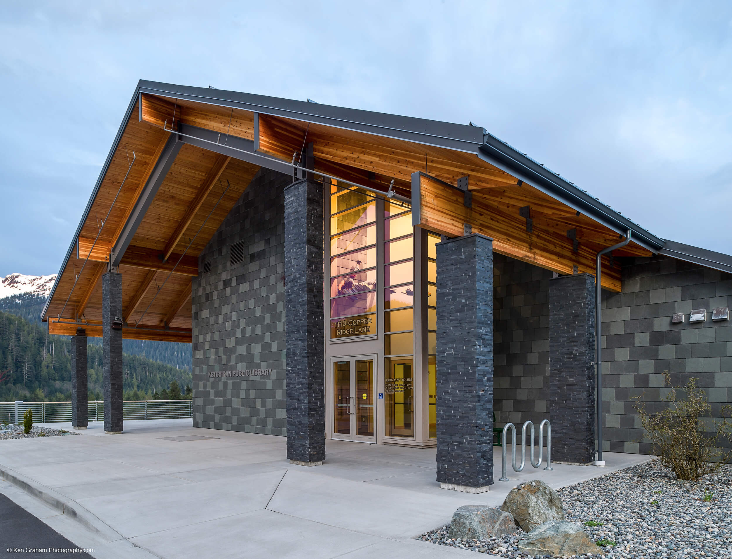 Expand Mendenhall Valley Library Entrance