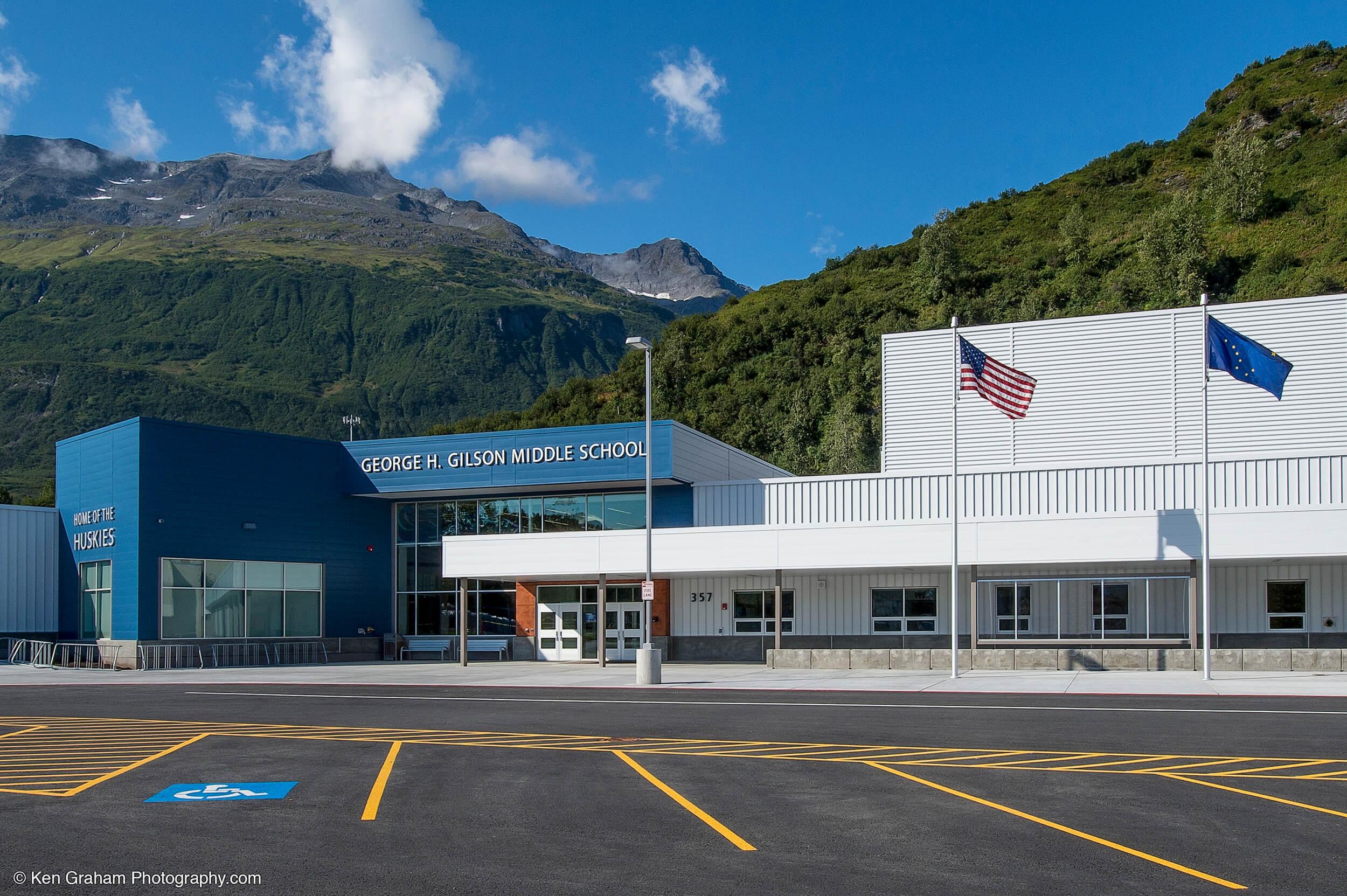 Expand Valdez Middle School Entrance