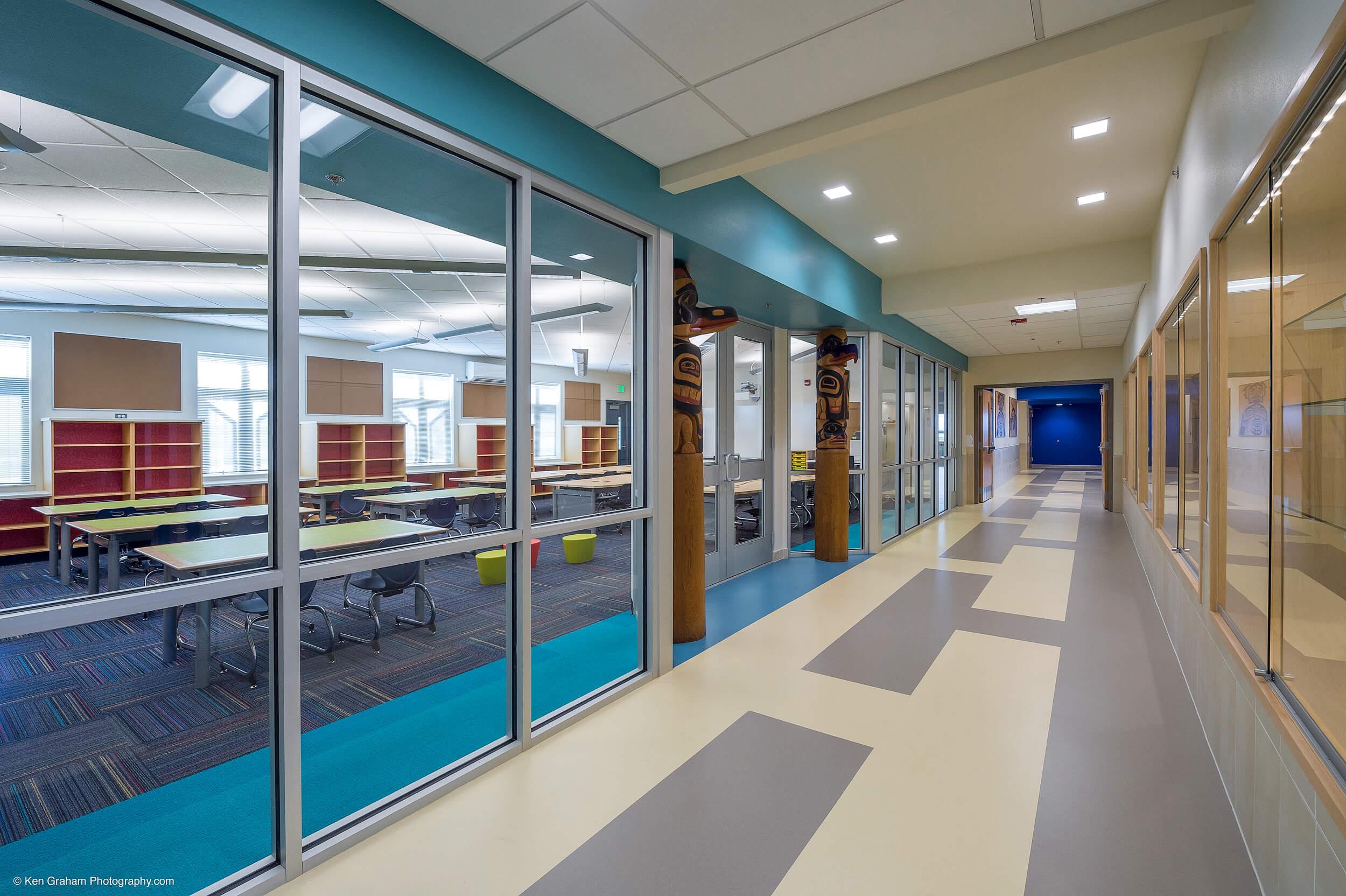 Expand Metlakatla Elementary Hallway