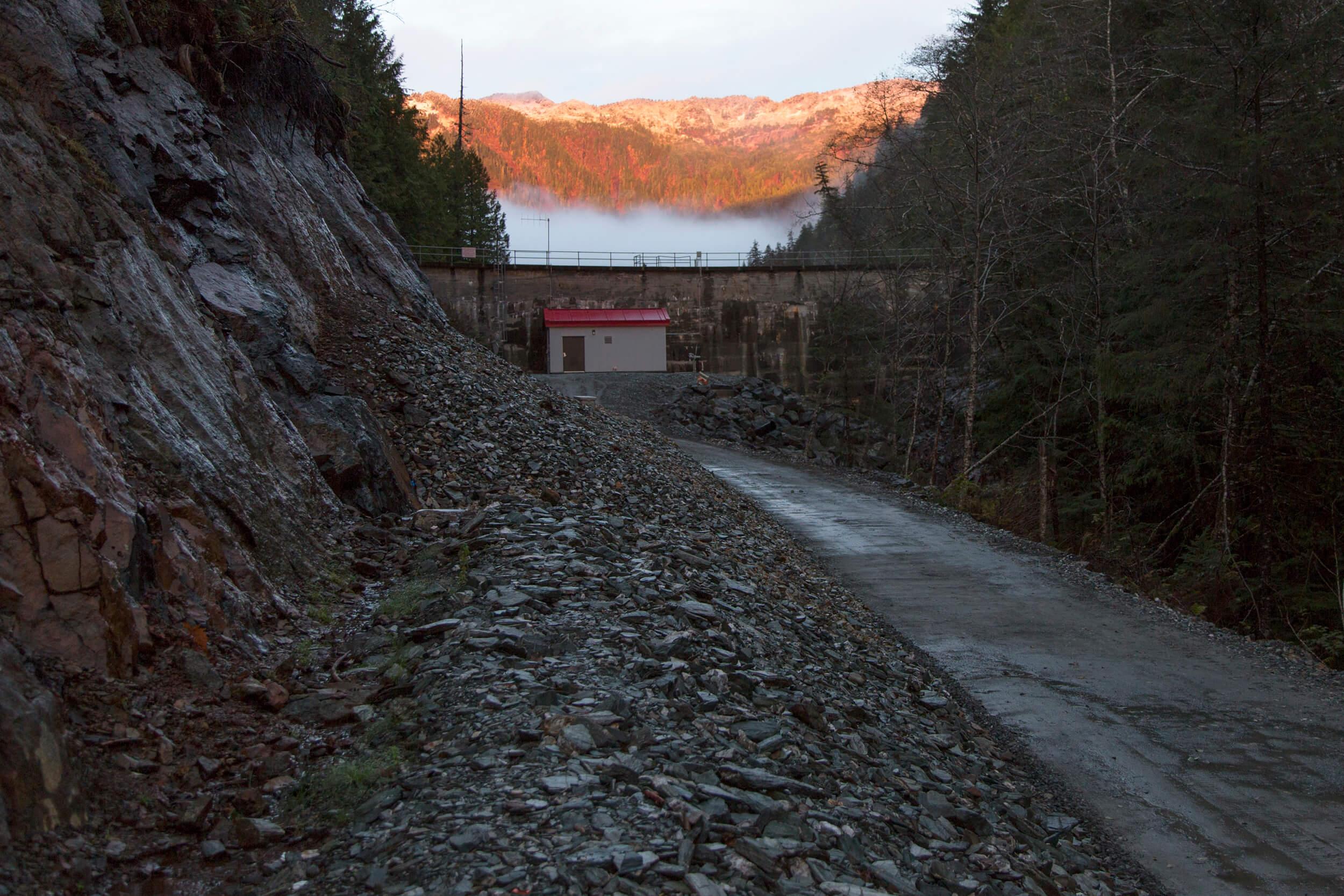 Expand Whitman Lake Hydroelectric Entrance