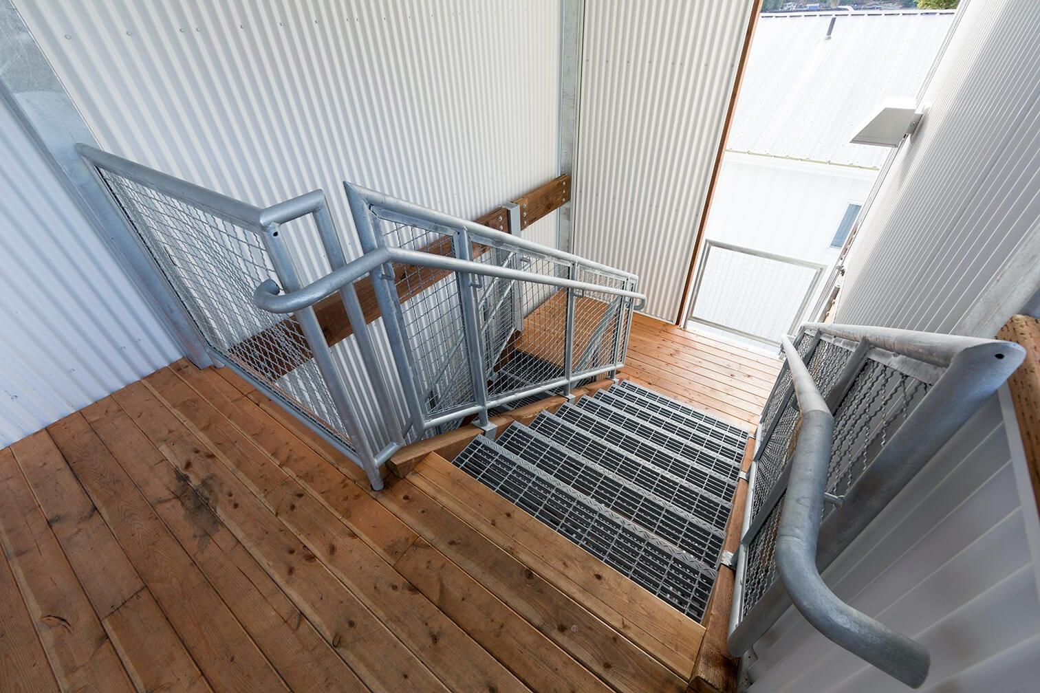 Expand Alaska Seafood's Bunkhouse Stairway