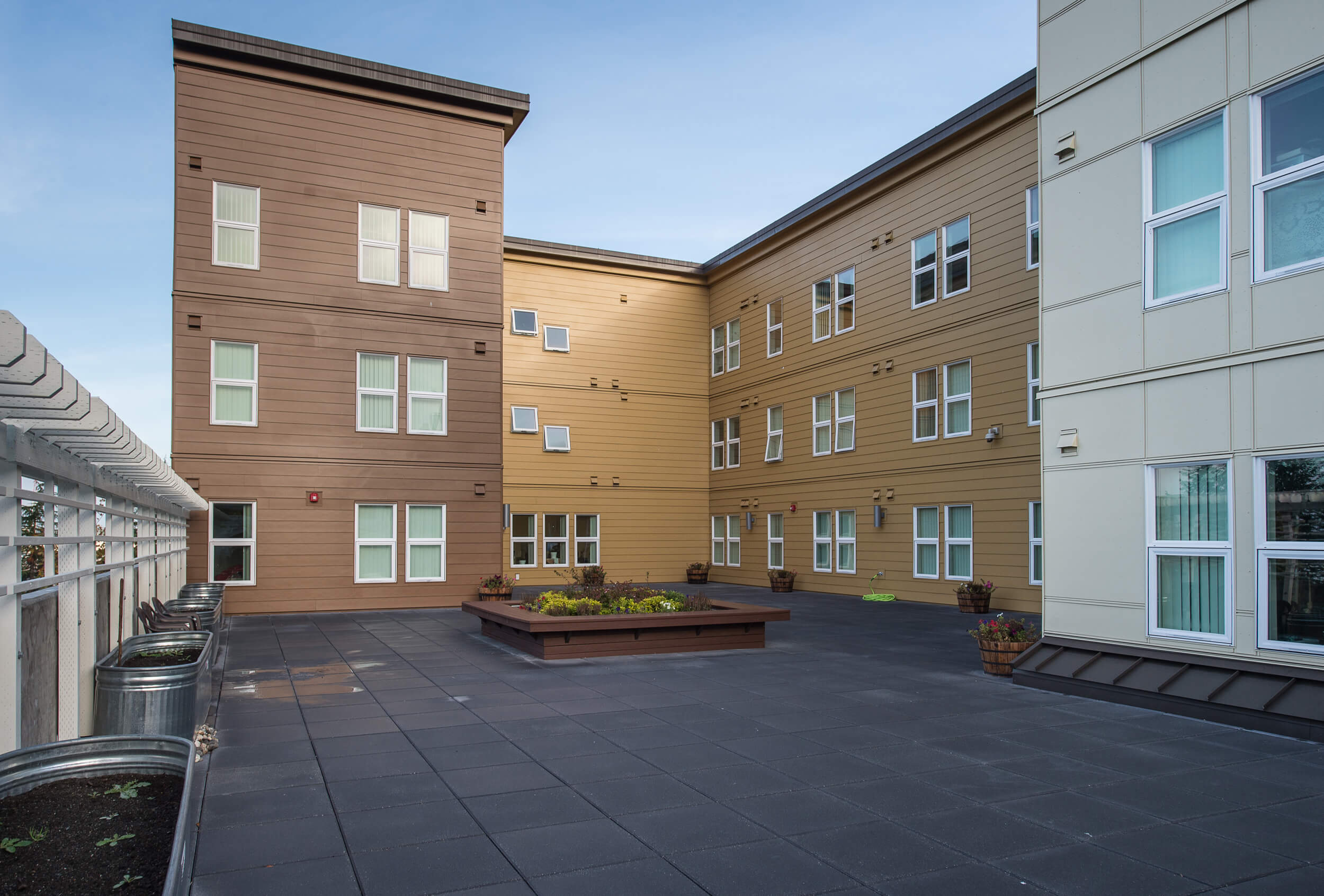 Expand Cornwall Housing Courtyard