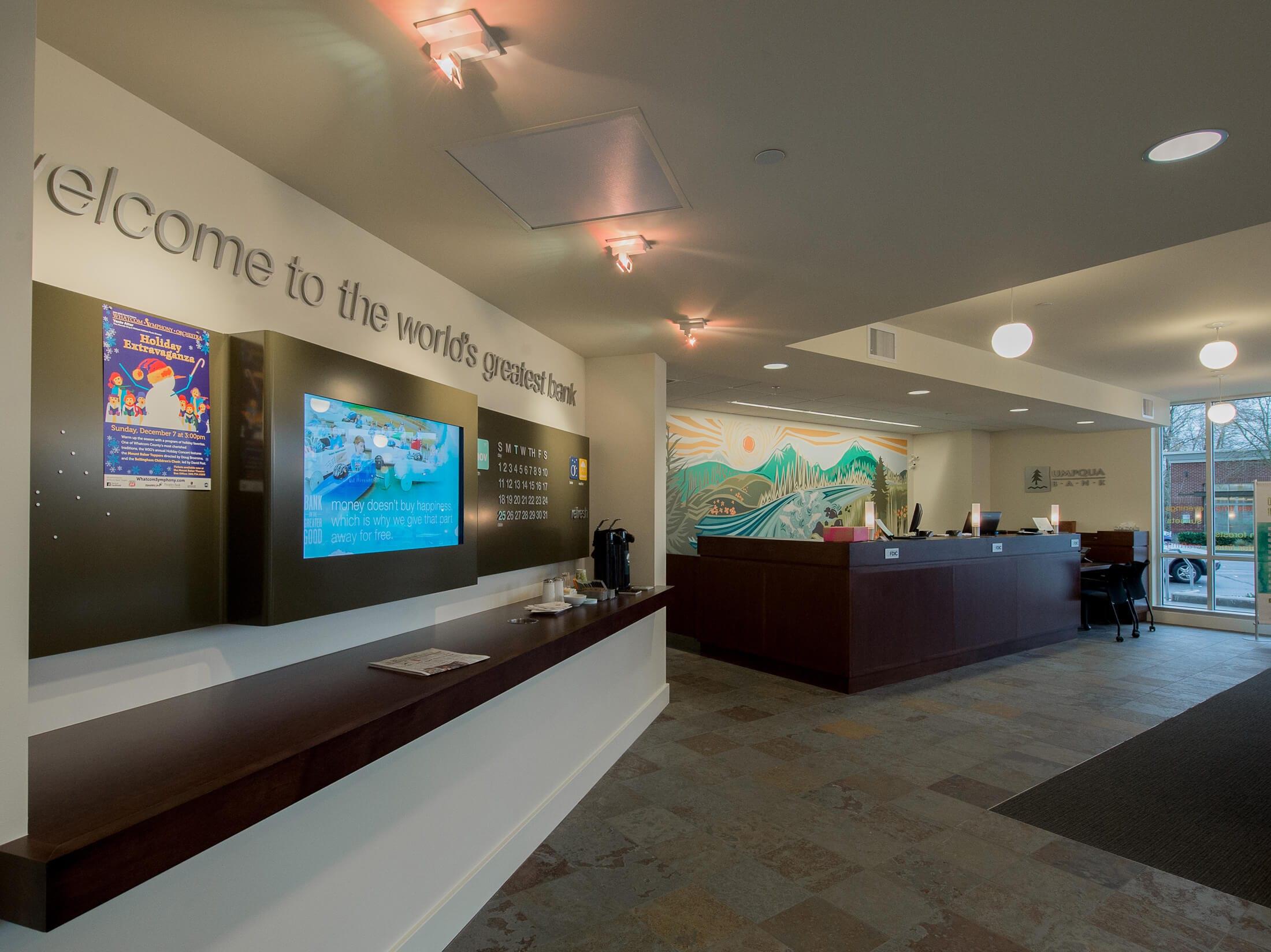 Expand Umpqua Bank Lobby