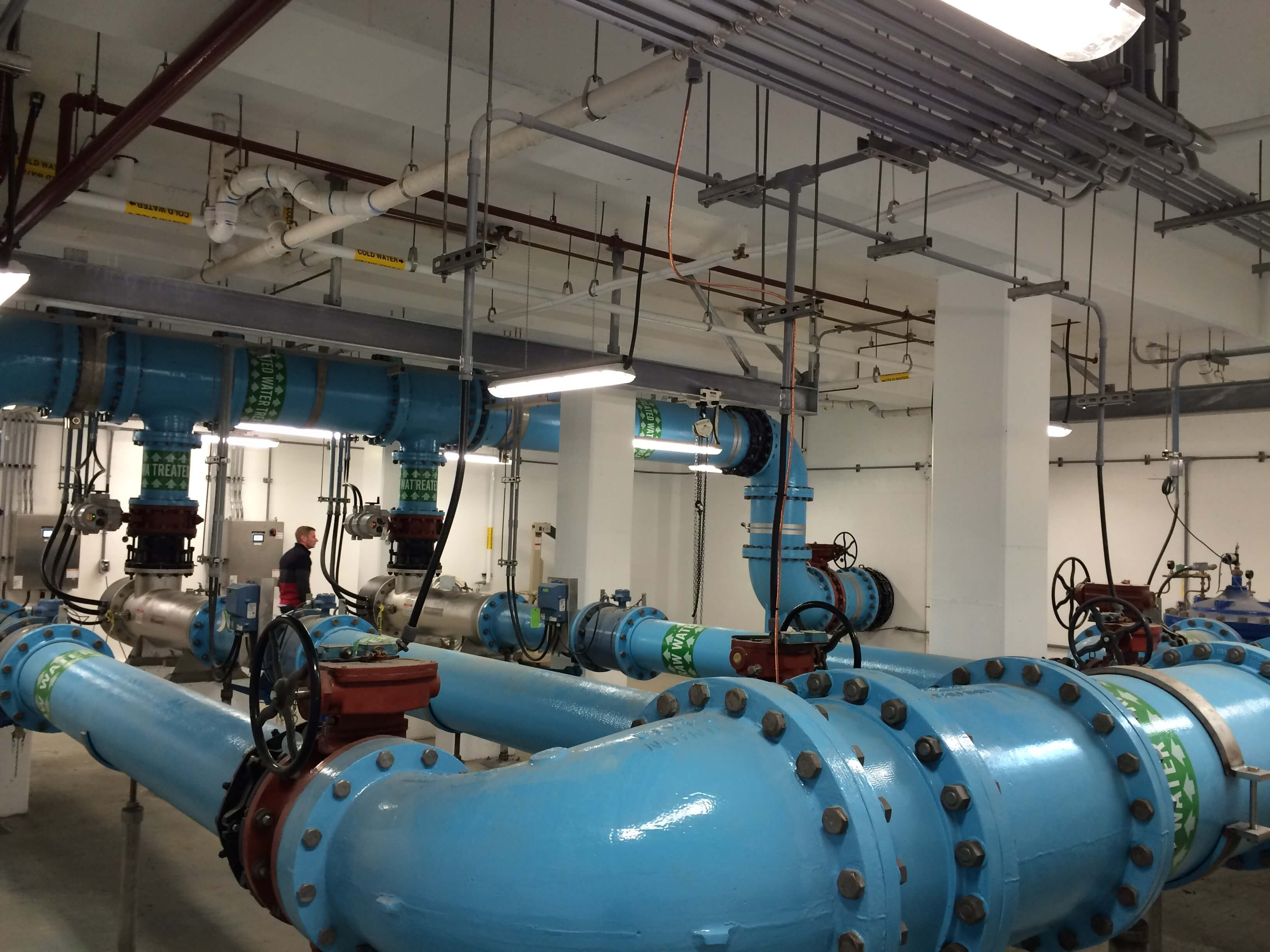 Expand UV Disinfection Facility Interior
