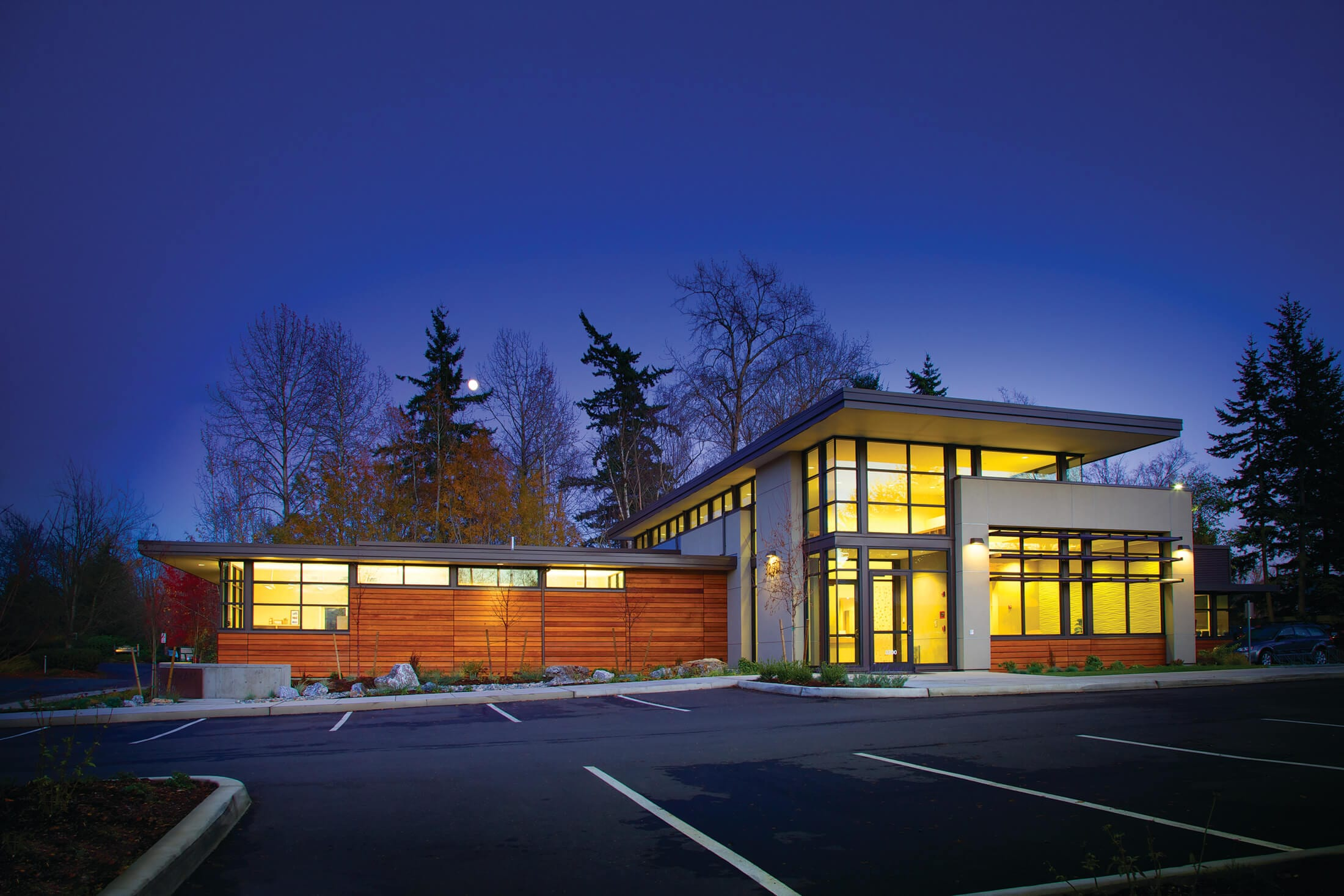 Expand Bellingham OBGYN Exterior at night