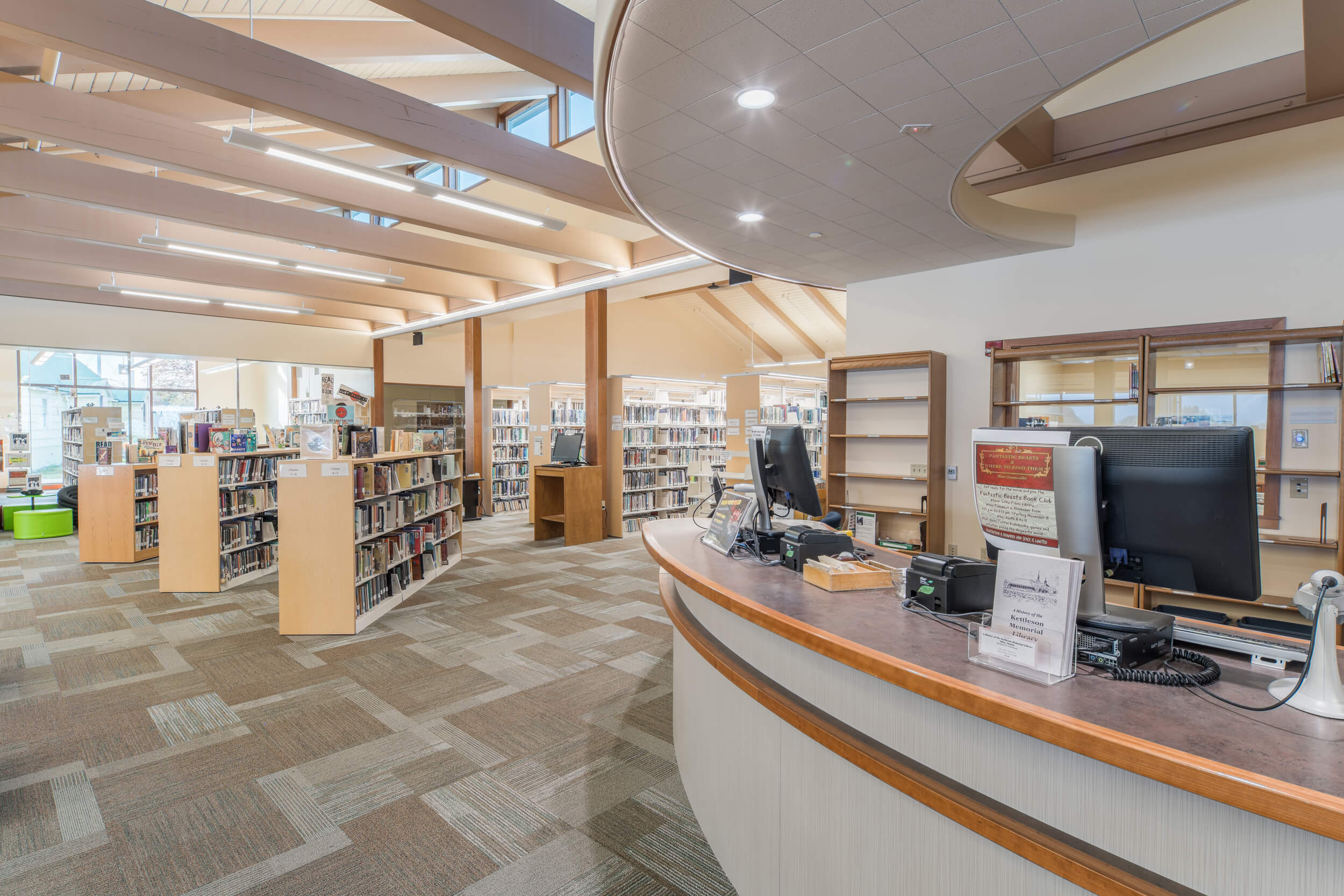 Expand Kettleson Memorial Library Front Desk