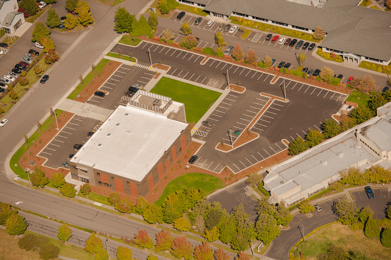 Expand Birdseye view of Whatcom Community College Health Professions Building