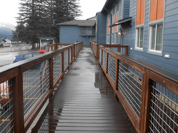 Expand Channel Terrace Apartments Renovation walkway